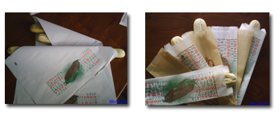 Belegde broodjes verpakking