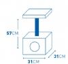 Krabpaal christa 3kleuren pootjes Beige 31x31x57CM